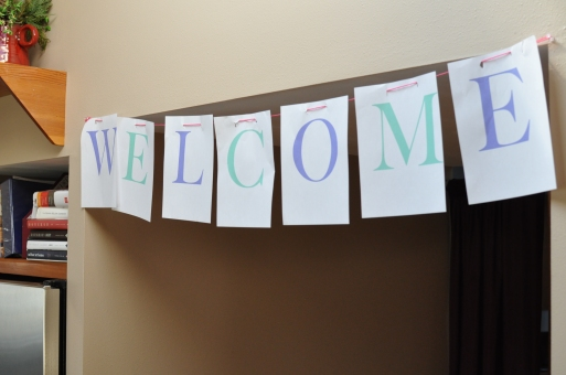 Homemade Welcome Sign