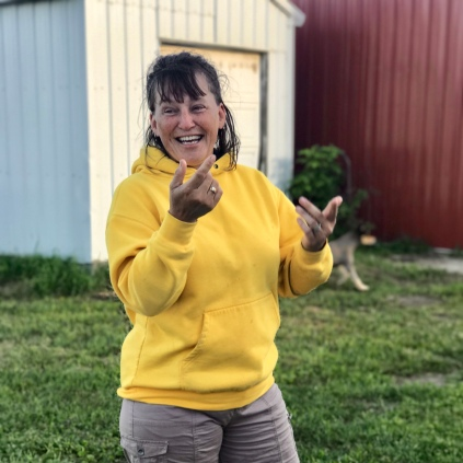 Sue Severson at the Kramer farm
