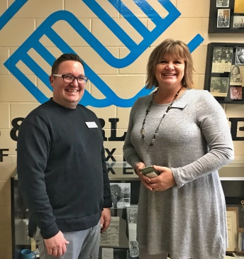 Billy Mawhiney, Boys and Girls Club of Sioux Empire's Director of Operations and Amy Sumner, Director of Philanthropy