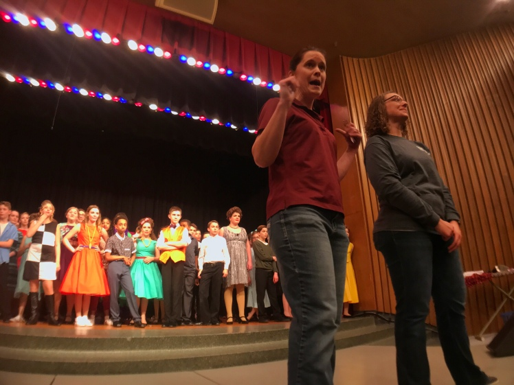 Directors Amber Sunvold and Molly Turback lead the cast of Hairspray Jr. Edison Middle School in Sioux Falls,SD. Set in Baltimore,MD in 1962, important lessons in discrimination are acted out and learned