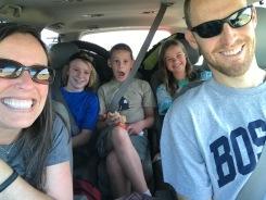 Kids loved to ride in the roomy Stewart's van- NOT the Jensen Prius